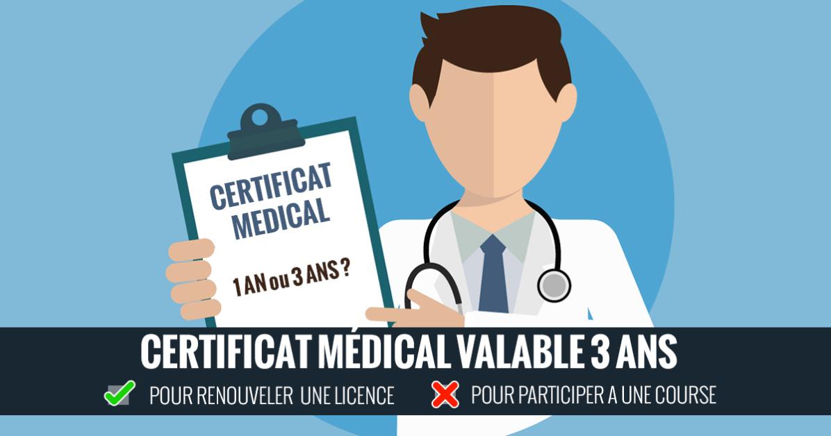 Certificat Medical Valable 3 Ans Pour Plusieurs Sports