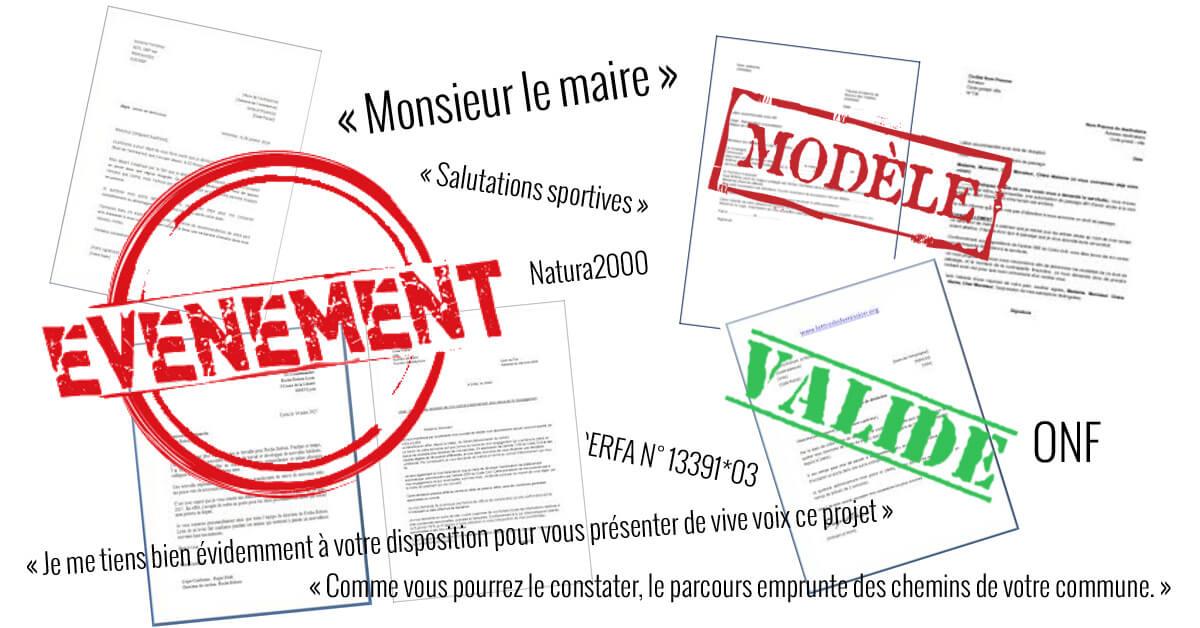 Modeles De Lettres Et Documents Utiles Pour Organiser Une Course
