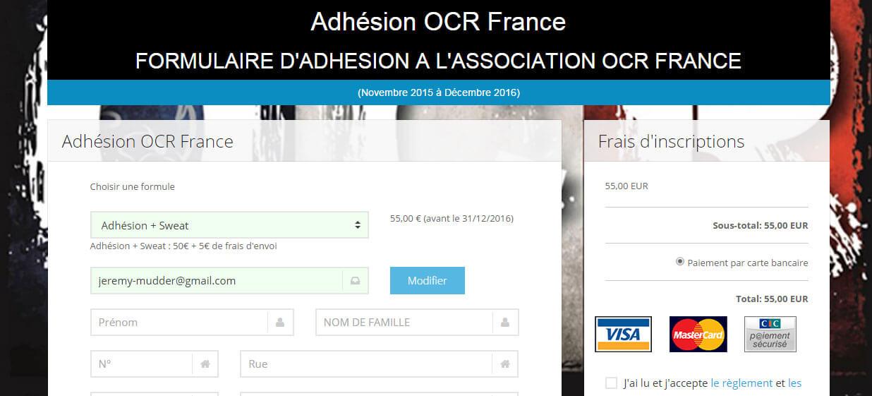 Adhésion OCR France