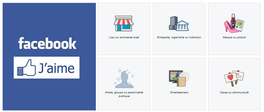 Faire une page Facebook, et non un profil (perso)